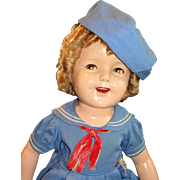 "SALE 27"" Flirty-Eye Shirley Temple 1930's Doll in Tagged Costume"