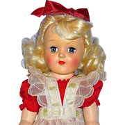 All  Original P91 Toni Doll from 1949 or 50, Mint Clothing, Play Wave Set and Box