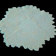 SOLD Vintage Pair Very Fine Irish Crochet Doilies