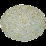 SOLD Vintage Net Lace Doily Mint