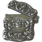 SOLD Antique Sterling Silver Repousse Stamp Holder c1900