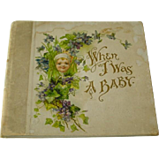 Antique Baby Book 1912 Great Graphics