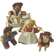 Vintage Hand Made Goldilocks and Three Bears