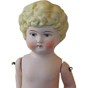 Vintage Bisque Doll with Molded Blonde Hair