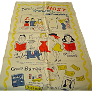 SOLD Vintage Newlyweds Crying Towel