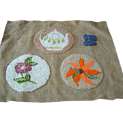 Three Vintage Hand Made Doll House Rugs