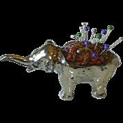 Silver Elephant Pincushion
