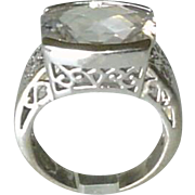 Large Sterling Silver Cocktail Ring