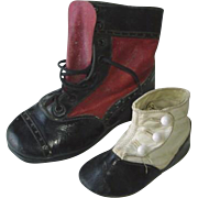 Antique Leather Shoes for Display