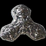 Vintage David Andersen Sterling Silver Trefoil Beast Norway Brooch