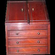 English Mahogany Secretary 19th Century Apprentice Piece Lap Desk