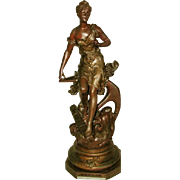 Signed Rancoulet Sculpture France C.1900