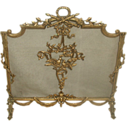 French Brass Firescreen Early 1900's