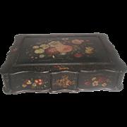 Vanity Chest Box Hand Painted 19th Century