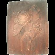 Wooden Plaster Mold France 18th C Large Floral Hand Carved