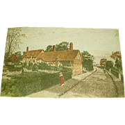 English Engraving Shakespeare's Wife Home C.1900