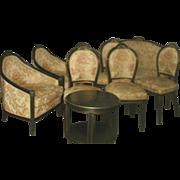 Italian Parlor Set 11 Piece 18th Century New Upholstery