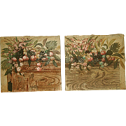 Matching Oil Paintings Unframed On Canvas Early 1900's