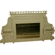 SOLD Mantel Mirror Shelf Unit Mid 19th Century