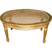 Gilt Caned Footstool French C.1880-1905