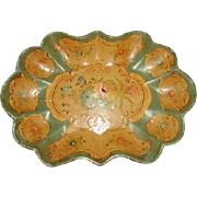 Bowl Tray Papier Mache Early 1900's