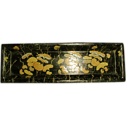 French Pencil Tray 19th Century Papier Mache