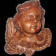 English Carved Angel C.1900-1910 Apprentice Piece