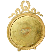 Solid Brass Frame Round France 19th Century