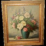 Signed Original Oil Early 1900's New Ornate Frame