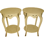 French Side Tables Ormolu Mounts Early 1900's Pair