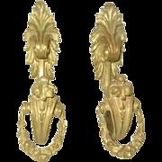 Bronze Tiebacks Hooks France 19th Century Pair