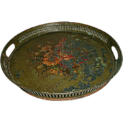English Tole Tray Early 19th Century