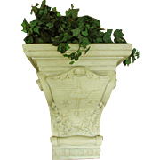 French Plaster Corbel Planter 19th Century Large