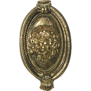 Brass Door Knocker French Lion Early 1900's