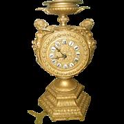 Mayer Gilt Clock Cherub 8 Day C.1890-1900