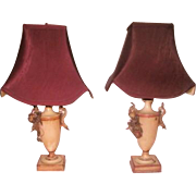 French Vanity Lamps Rewired Early 1900's New Shades