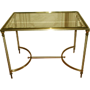 Neoclassical Coffee Table Italy Brass Pewter