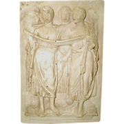 Neoclassical Plaster Plaque Early 1900's