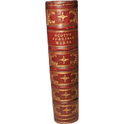 """""""Scott's Poetical Works"""" Illustrated C.1877 Leather Bound"""