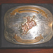 SOLD Comstock German Silver Western Belt Buckle