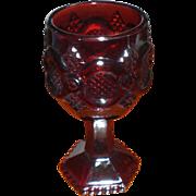 SOLD Avon Cape Cod Ruby Red Wine Glasses