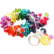 Le Petite Crystalmania Bracelet - Swarovski Crystal Charm Bracelet In Rich Rainbow Hues