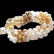 SOLD Le Petite Crystalmania Bracelet - Swarovski Crystal Charm Bracelet With Swarovski Pearls