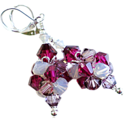 Swarovski Crystal Cluster Bead Ball Earrings