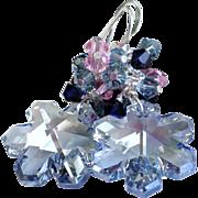 SOLD Swarovski Crystal Blue Shade Snowflake Earrings - Red Tag Sale Item