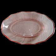 SALE Vintage Pink Depression Glass Serving/Relish Dish