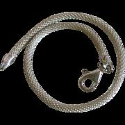 SALE Vintage Signed Sterling Silver Mesh Rope Bracelet