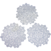 Trio of Hand Made Tatted Doilies