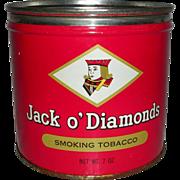 Jack o' Diamonds Smoking Tobacco Tin Key Wind