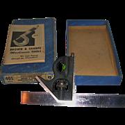 "SALE Machinists Combination Square Brown & Sharpe 6"" Original Box"